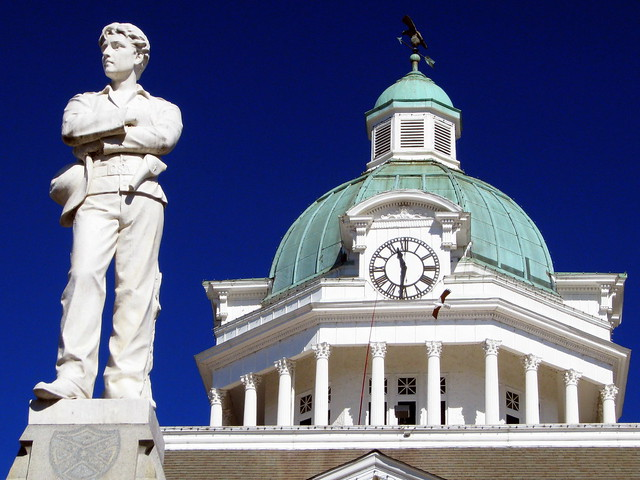 Sam Davis Statue & Courthouse Cupola