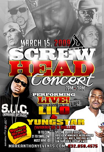 SCREW HEAD Concert Spring Break Rap Houston TX Lil' O Yunstar