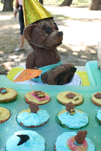 Teddy Bears Picnic 7.5 Round Cake topper personalised teddy bear
