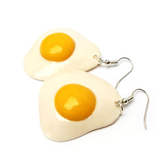 Sunny Side Up (weggart) Tags: jewelry polymerclay fimo minifood miniaturefood
