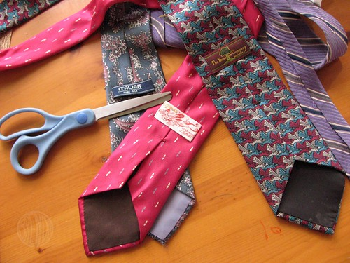 silk ties from the thrift store