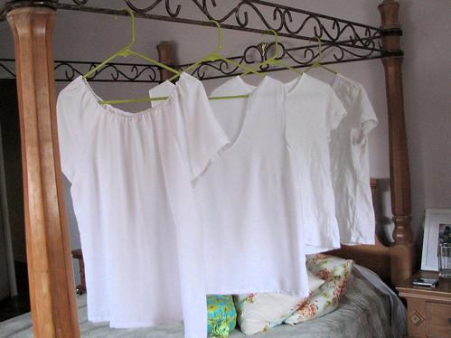 Four white shirts