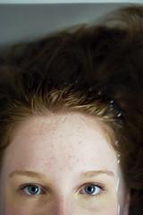 (morgan.laforge) Tags: blue portrait water closeup eyes stare freckles redhair sarabolander