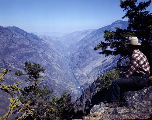 Snake River canyon in northeastern Oregon by Oregon State University Archives.