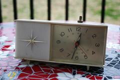 Vintage Atomic Alarm Clock (Jade-Li) Tags: vintage atomic starburst alarmclock