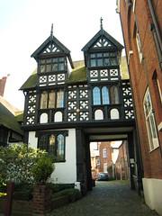 Shrewsbury - Council House Gatehouse (Dubris) Tags: england building architecture shropshire shrewsbury gable fachwerk halftimbering salop