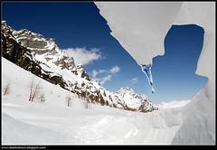 Ice and water (Andrea Moro) Tags: italy mountain snow nikon italia hiking path tokina1224 hike adventure piemonte neve d200 nikkor sentiero montagna racchette avventura escursionismo escursione alpedevero ciaspole escursioni crampiolo valbuscagna nikkor1735