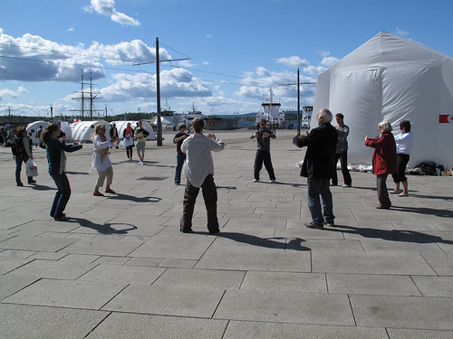 Taiji practice outside the Nobel Peace Centre