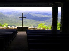 inside Pretty Place Chapel (perfectshotphotographers) Tags: park wedding mountains sc landscape cross christian greenville picnik scstatepark prettyplacechapel