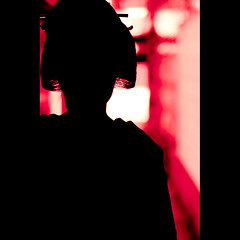 a silhouette of Geiko (Masahiro Makino) Tags: girl silhouette japan female photoshop canon eos japanese kyoto traditional geiko adobe  tamron 90mm f28 lightroom    40d 20090514134740canoneos40dlls640p