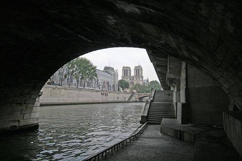 Notre Dame through the arch