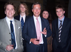 Nigel Farage with Members of the University of...