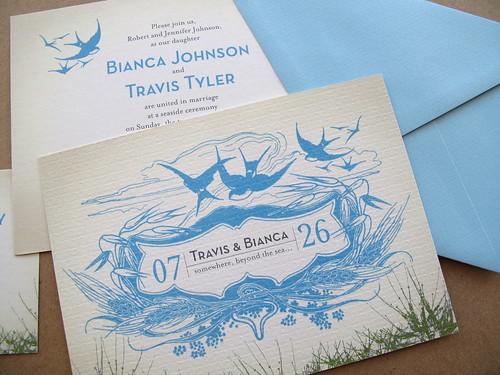 And Kathleen | Wedding Invitation: Vintage Seaside Picnic