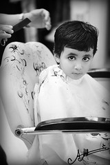 (A.A.A) Tags: boy baby white haircut black cute eye home by hair photography eyes cut nephew aaa amna irresistible jassim abdulaziz althani fedaitah alshai5