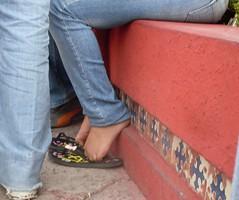 SDC12413 (Metalfeethunter) Tags: feet fetish candid flip pies flops shoeplay