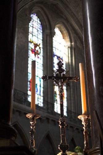 Croix et cierges