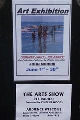 John Morris art exhibition poster, Listowel