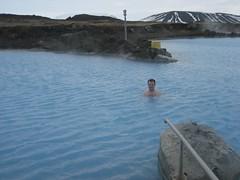 Day 6: Brian in Myvatn Baths (halliew) Tags: iceland myvatn