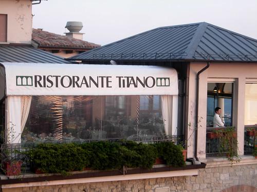 Empty restaurant, San Marino