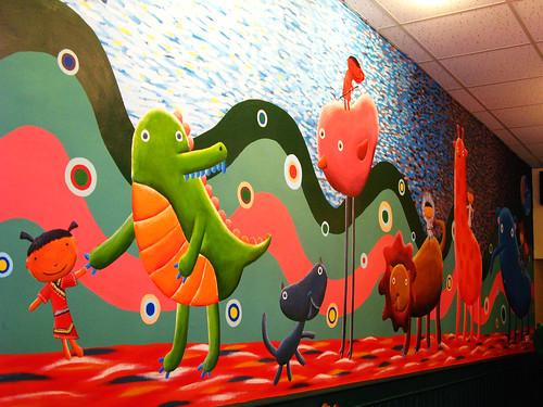壁上的插畫