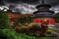 China Pavillion HDR - Epcot @ Disney (Kristopher Michael) Tags: world china orlando epcot nikon dragon gloomy florida chinese disney kris vista pavilion fl wdw walt hdr pavillion buena d90 nikond90 disneyphotochallengewinner 5stardisneyaward
