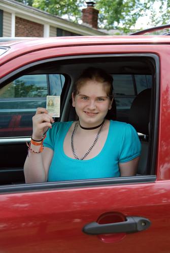 Portia Got Her Driving Permit!