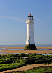 Lighthouse (pixiepic's) Tags: sky lighthouse beach moss rocks soe newbrighton blueribbonwinner otw abigfave platinumheartaward theperfectphotographer