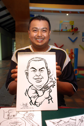 Caricature live sketching for Costa Sands Resort Pasir Ris Day 1 - 7