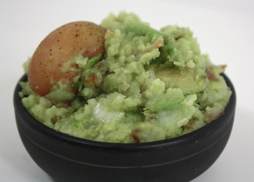 Avocado Smashed Baby Potatoes