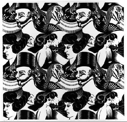 Ocho cabezas, grabado de 1922
