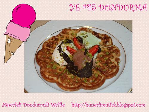 Nescafeli Dondurmali Waffle - Hunerli Mutfak