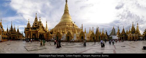 """Shwedagon Paya Temple """"Golden Pagoda"""" Yangon Myanmar Burma por :substance:."""