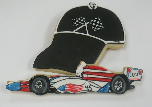 [Image from Flickr]:Indy 500 Cookies