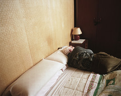 (Salva Lpez) Tags: bed bedroom pentax 55mm siesta medium format 6x7 melancholy portra abuelo dormitorio melancolia 160nc roig26