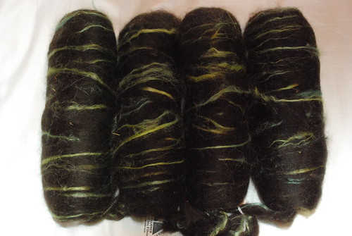 Bay Black Alpaca with Chartreuse and Sky Blue Silk