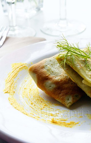 Spinach crepes,