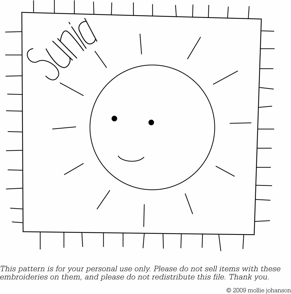 Free Sunia Embroidery Pattern