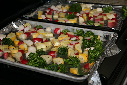 Roasted Summer Vegies
