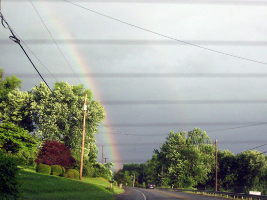 Rainbow Over the Countryside (Click to enlarge)