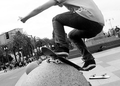 Skateboarding Trick (shaire productions) Tags: sf sanfrancisco california city light shadow people urban blackandwhite bw motion guy sports boys monochrome kids youth pose photography photo blackwhite jump jumping movement shoot shadows shot skateboarding image action live young culture teenagers teens posing lifestyle guys monotone skaters tricks photograph freeze skateboard skater midair trick grayscale extremesports sequence fellow position