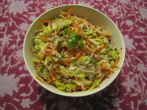 kohlrabi, carrot, napa cabbage, radish slaw
