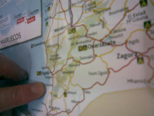 buscando ciudades en el mapa de marruecos
