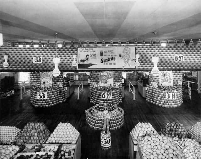 ephemera assemblyman: Vintage Grocery Store Displays