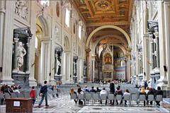 San Giovanni in Laterano, Rome Italy (www.ipernity.com/home/tomfs) Tags: travel italy rome roma church canon geotagged italia geotag 1755 canonefs1755mmf28isusm geodata 40d gpicsync canoneos40d tomfs amodagl3080gpsdatalogger