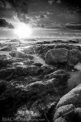 Sunset Light (Nick Chill Photography) Tags: california sunset bw beach monochrome photography nikon image stock tokina explore flare pointreyes inverness nationalseashore mcclures d90 1116mm nickchill nikond90bw darylbensonreversegraduatedneutraldensityfilter