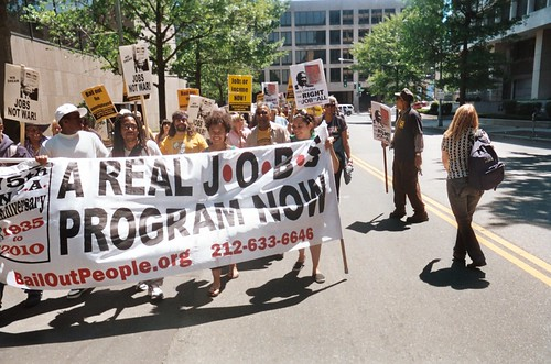 National March for Jobs in Washington, D.C. on May 8, 2010. Members of FIST and Bailout the People Movement carry the lead banner. (Photo: Abayomi Azikiwe) by Pan-African News Wire File Photos