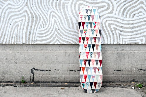 Patchwork Skateboard