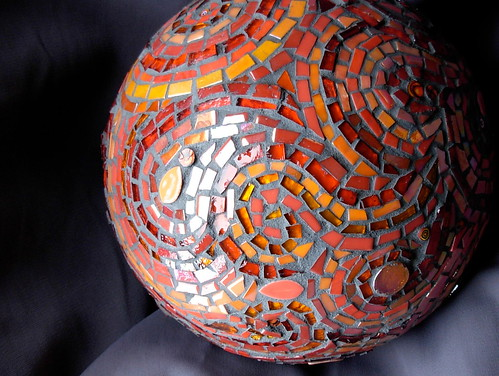 Mosaic Gazing Ball Detail