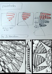 tangle - Parabola (Jo in NZ) Tags: design pattern doodle parabola zentangle nzjo zendoodle