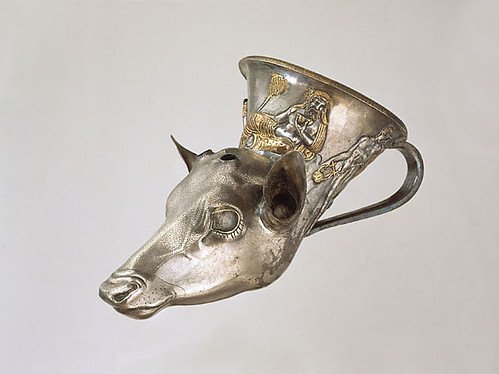 An Exceptional Greek Late Classical Silver Rhyton in the Form of a Deer's Head